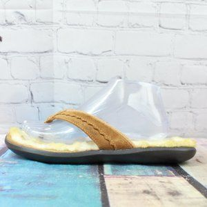 LL BEAN House Slippers Lined Thong Sandal Size 9 M
